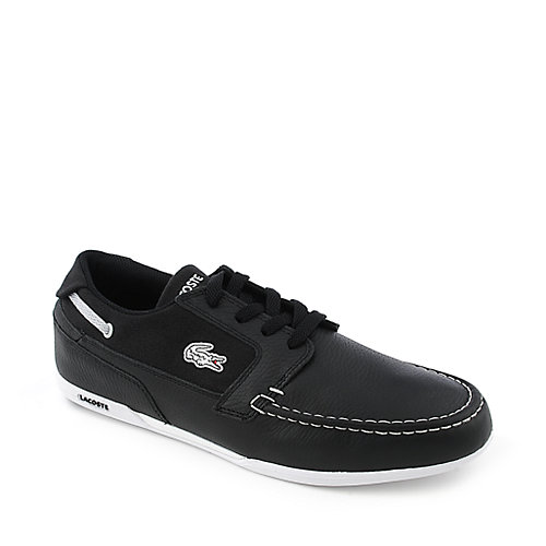 Lacoste Drefus mens black casual lace up boat shoe