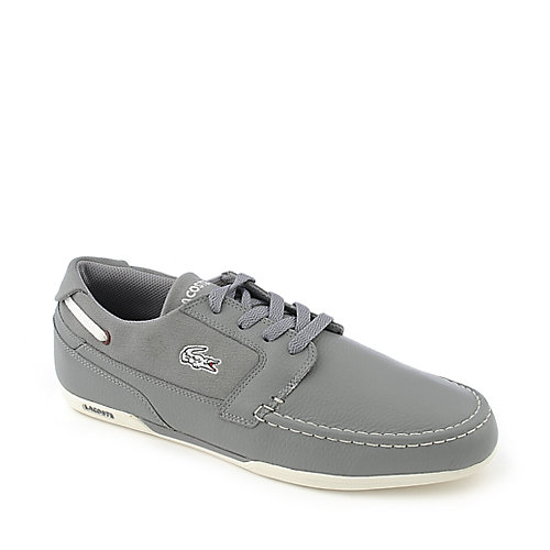 Lacoste Drefus Mens Grey Casual Lace Up Boat Shoe