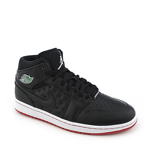 Jordan 1 Retro '97 mens black white and red athletic basketball sneaker