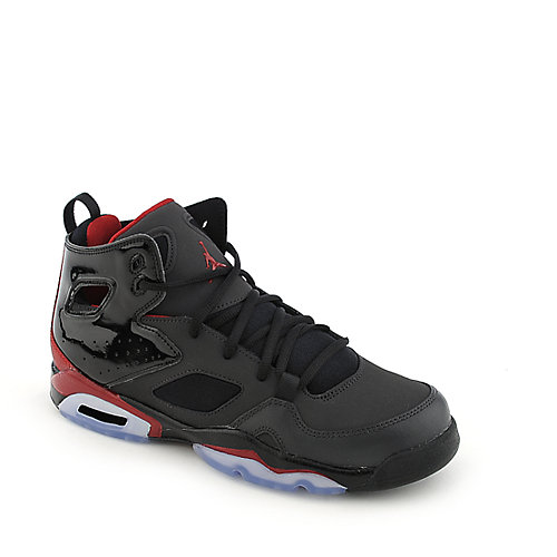 Jordan FLTCLB '91 kids youth black and red athletic basketball sneaker