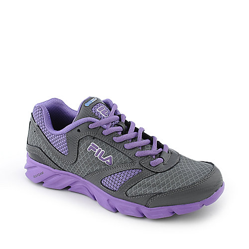Fila Warp womens purple athletic running sneaker