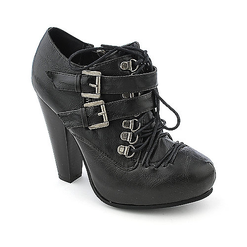 Bamboo Magnet-05 womens platform high heel ankle boot