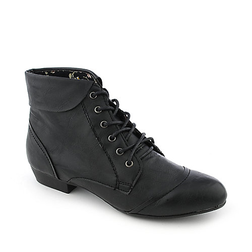 Bamboo Picnic-02 womens low heel ankle boot
