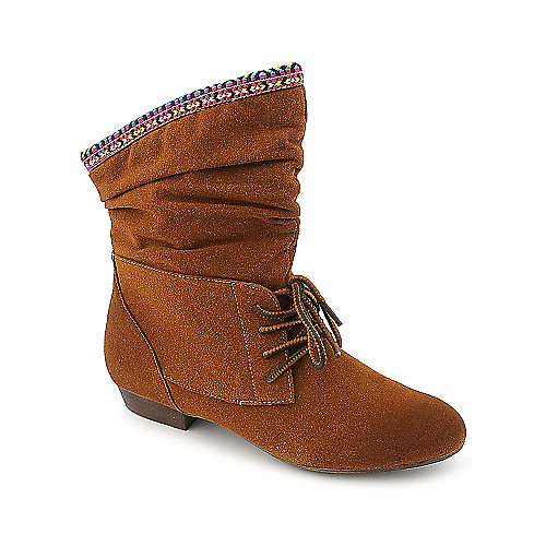 Bamboo Picnic-03 womens ankle low heel boot
