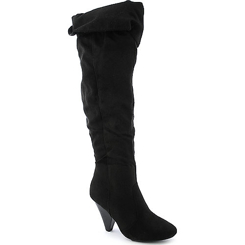 Trinity-21 womens thigh high low heel boot