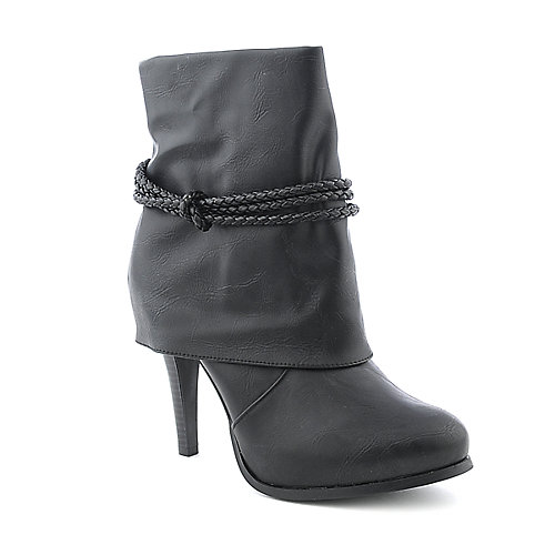Anne Michelle Cheeky-01 womens mid calf platform high heel boot