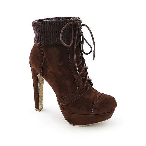 Bamboo Conroy-11 womens platform high heel knit ankle boot