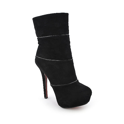 Anne Michelle Oscar-22 womens black platform high heel ankle boot