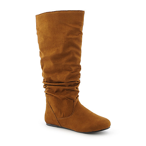 Bamboo Rebeca-02R womens flat mid calf boot