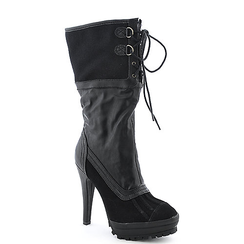 Anne Michelle Wildcat-02 womens knee high platform high heel boot