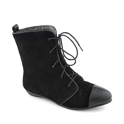 Bamboo Zoria-56 womens low heel mid calf boot
