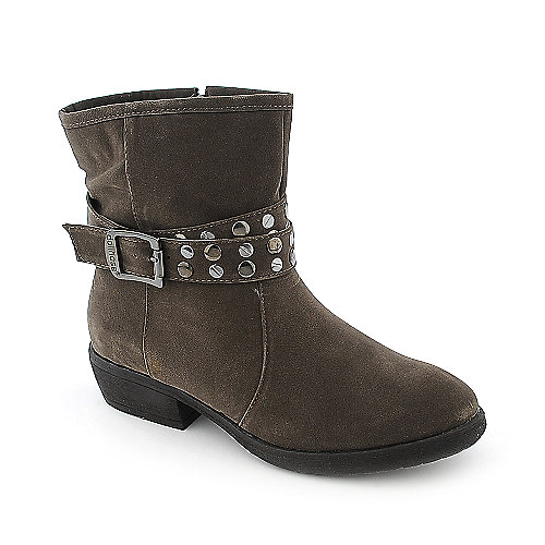 Dollhouse Marvelous womens taupe low heel ankle riding boot