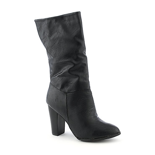 Dollhouse Suave black high heel mid calf boot