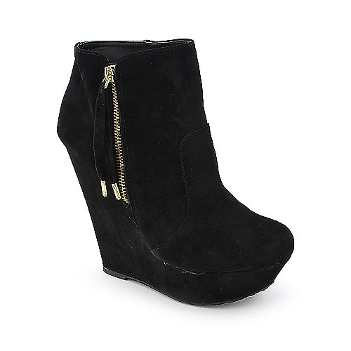 Dollhouse Villain womens platform wedged ankle boot