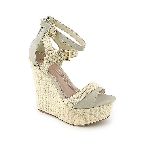 Shiekh #073 beige casual platform espadrille wedge shoe
