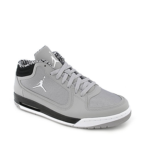 Jordan Post Game mens silver athletic basketball sneaker