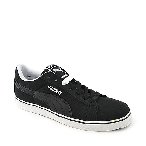 Puma S Vulc CVS mens black casual lace up sneaker