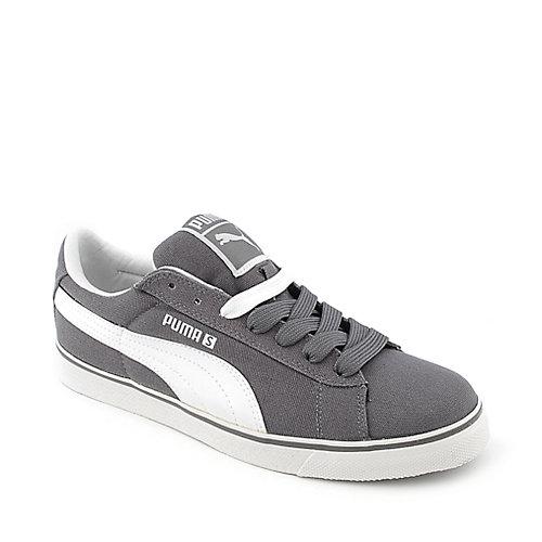 bb5c1249d29 Puma Mens S Vulc CVS grey lace up casual sneaker