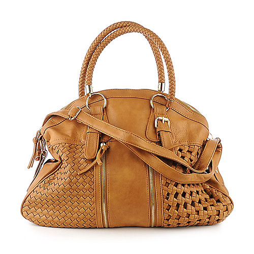 Yoki Camel Woven Satchel accessories handbags satchels