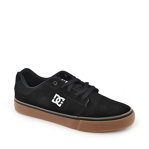 DC Bridge black suede athletic skate sneaker