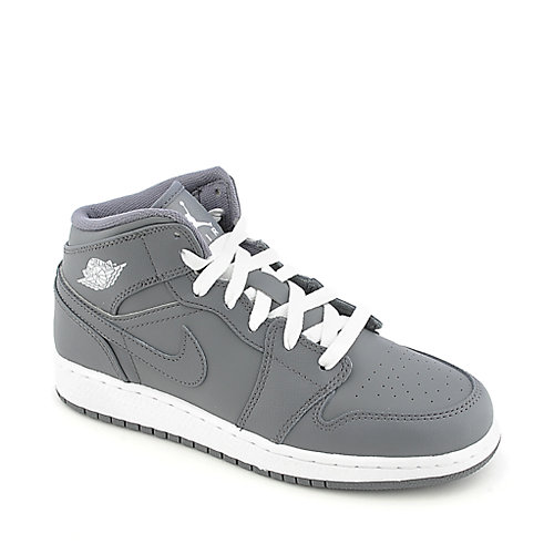 Air Jordan 1 Mid (GS) youth athletic basketball sneaker