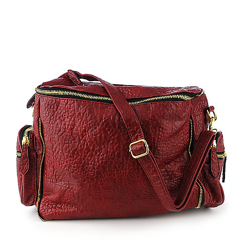 nuG Pebbled Tote berry shoulder bag