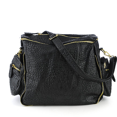 nuG Pebbled Tote black shoulder bag