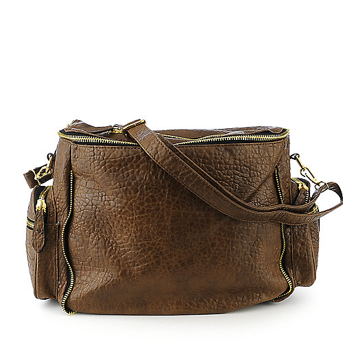 nuG Pebbled Tote brown shoulder bag