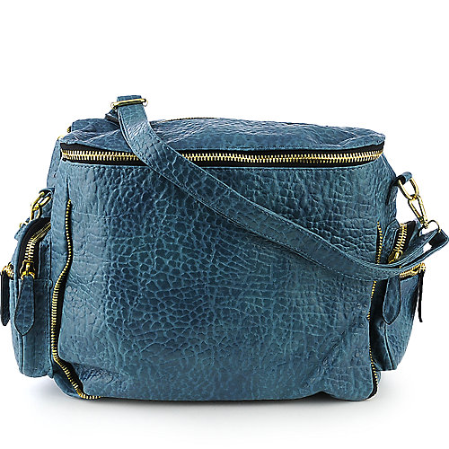 nuG Pebbled Tote teal shoulder bag
