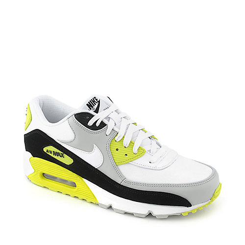 Nike Air Max 90 Premium mens grey and white athletic running sneaker