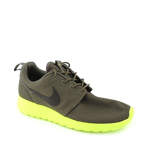 Nike Rosherun mens green athletic running sneaker