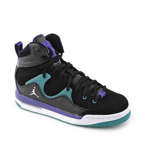 Jordan Flight TR'97 youth black and purple athletic basketball sneaker