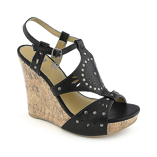 Shiekh Rizzo-S black casual platform wedge shoe