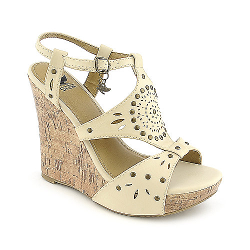 Shiekh Rizzo-S white casual platform wedge shoe