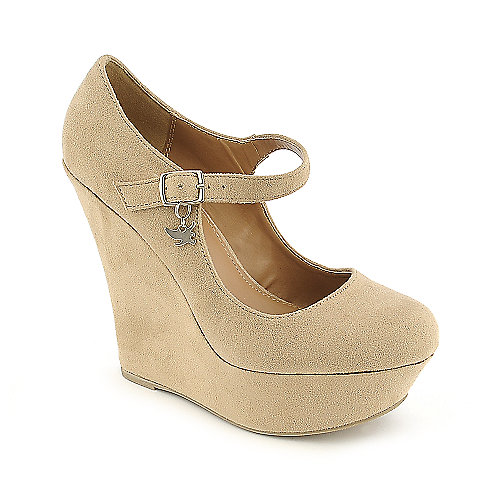 Shiekh Kayla-S oatmeal platform wedge dress shoe
