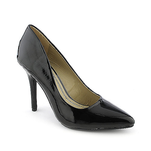 Anne Michelle Momentum-06N black high heel pump dress shoe