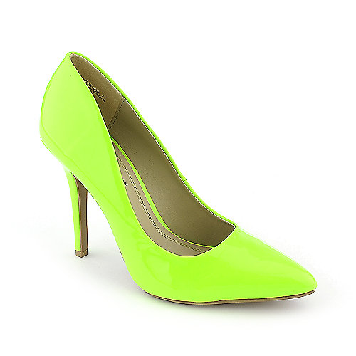 Anne Michelle Momentum-06N green high heel pump dress shoe