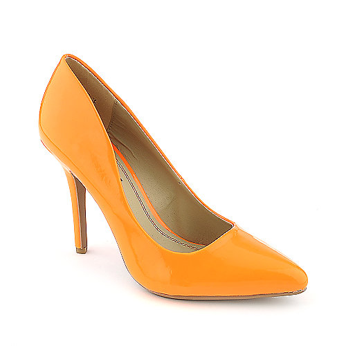 Anne Michelle Momentum-06N orange high heel pump dress shoe