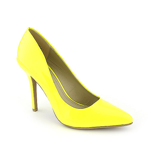 Anne Michelle Momentum-06N yellow high heel pump dress shoe