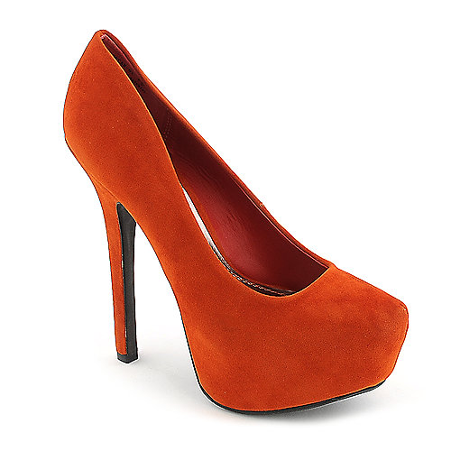 Anne Michelle Oscar-01 orange platform high heel pump