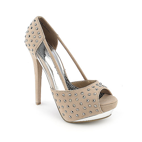 Society 86 Baha-01 nude platform high heel dress shoe