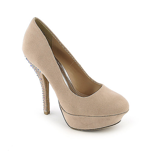 Bamboo Dash-09N nude platform high heel dress shoe