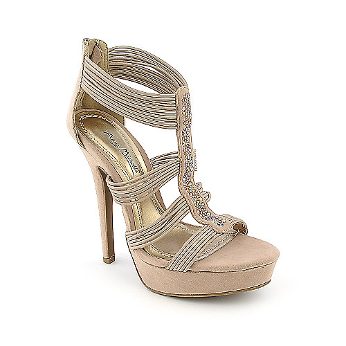 Anne Michelle Socialite-64 nude platform high heel evening dress shoe