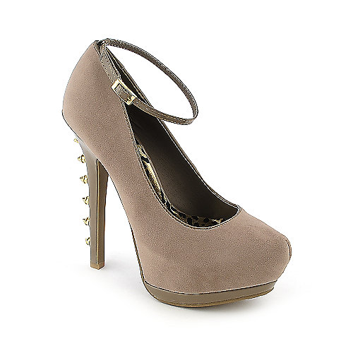 Dollhouse Notorious taupe platform spiked high heel dress shoe