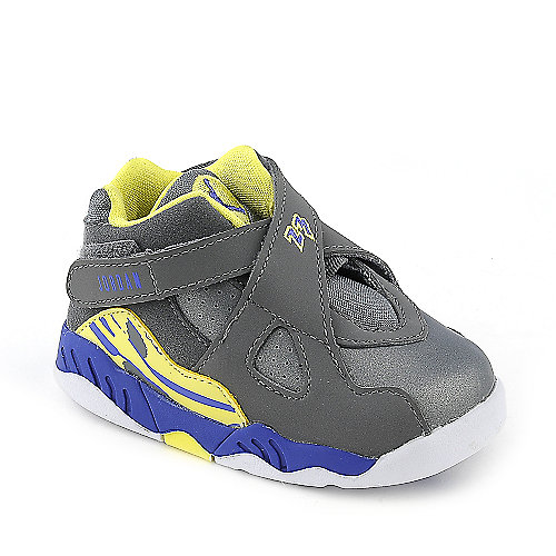 Jordan 8 Retro grey kids toddler sneaker