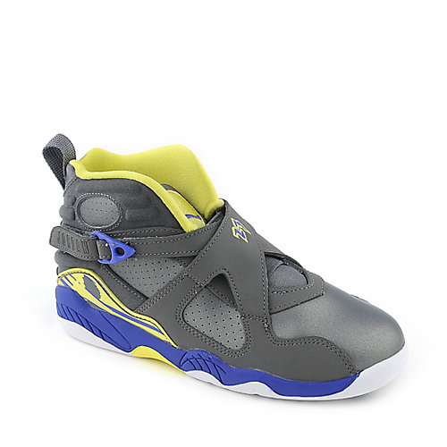 Jordan 8 Retro grey kids preschool sneaker