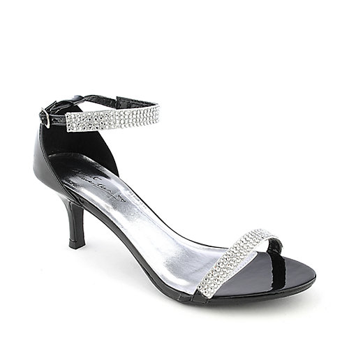 Sweet Seventeen Janee-01 black evening low heel dress shoe