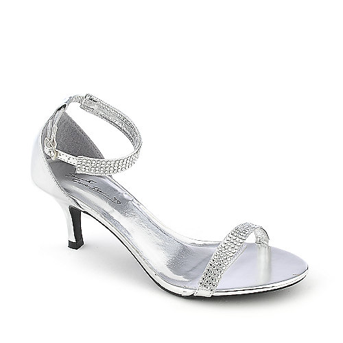 Seventeen Janee-01 silver evening low heel dress shoe