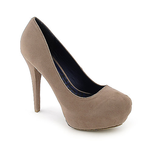 Dollhouse Hotshot nude platform high heel dress shoe
