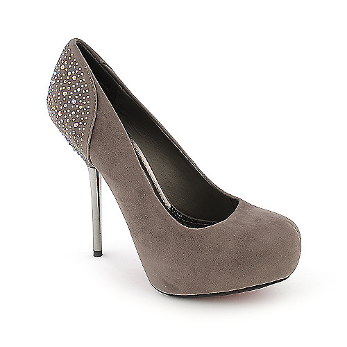 Society 86 Riona-08 taupe platform high heel pump dress shoe